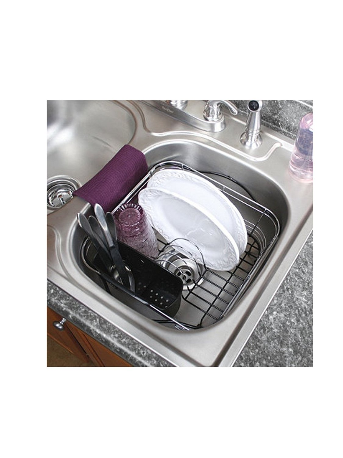 Kitchen Sink Drain Rack Dish drying rack in sink on counter or expandable over the sink dish rack dish rack2 dishrack4 dishrack1 dishrack3 workwithnaturefo