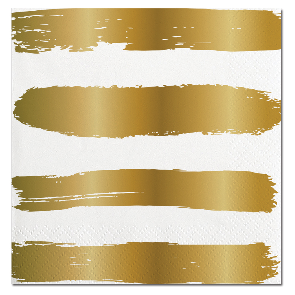 Gold Striped Napkins