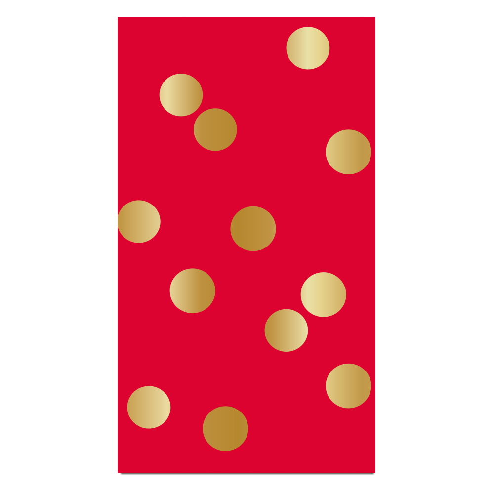 Red & Gold Dot Guest Towels