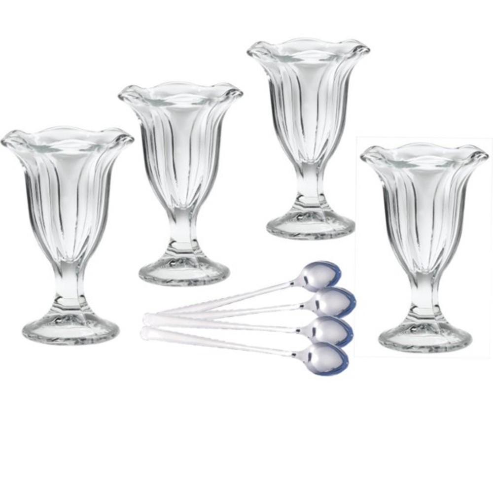 Sundae Glasses Tulip Dessert Bowls W Spoons Rltsource Llc