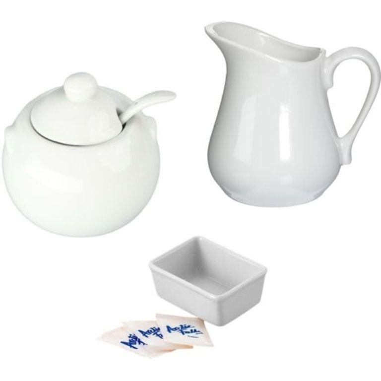 Porcelain White Creamer And Sugar Set Rltsource Llc